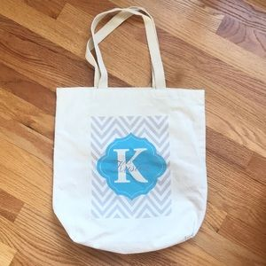"Canvas tote bag personalized ""Kristen"""